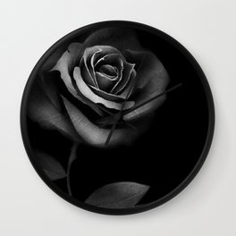 Black Rose Wall Clock