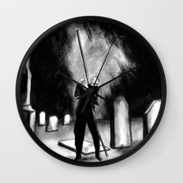 Lightning Rod Impales The Soul  Wall Clock