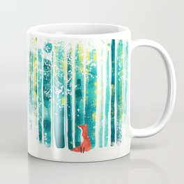 Fox in quiet forest Coffee Mug