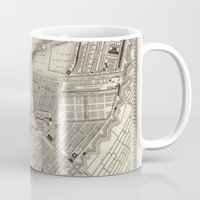 amsterdam Mugs featuring Amsterdam by Le petit Archiviste