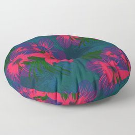 Tropical Floral Pattern Floor Pillow
