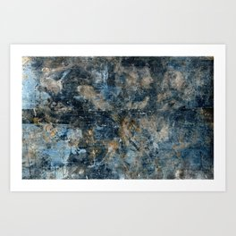 Blues, Golds, and Gray Art Print