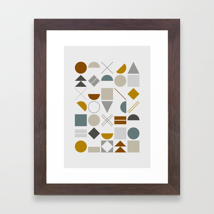 Mid West Geometric 01 Framed Art Print