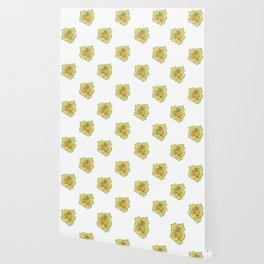 Yellow and Turquoise Rose Wallpaper