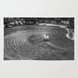 Mowing The Lawns In A Circle Rug