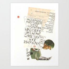 head towards chaos, and slide Art Print