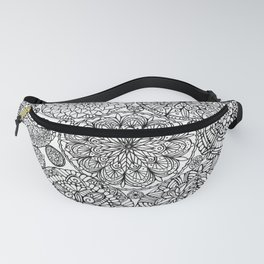 The Yang, Light Mandalas Fanny Pack