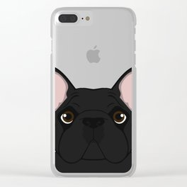 Frenchie - Black Brindle Clear iPhone Case