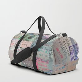 A Celebration of Passport Stamps Duffle Bag