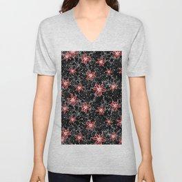 Space Flowers Unisex V-Neck
