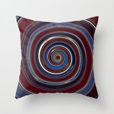 Re-Created Spin Painting (Midnight & Burgundy) by Robert S. Lee Throw Pillow