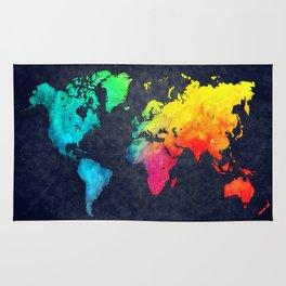 World map watercolor 6 Rug