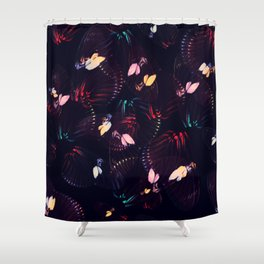 Abstract Butterfly Pattern #3 Shower Curtain