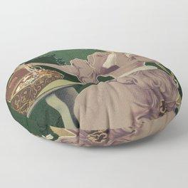 Vintage Jewelry shop Prague ad Floor Pillow