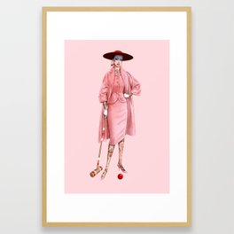 Croquet and Ink Two Framed Art Print