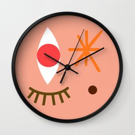 Bright Eyed & Bushy Tailed Wall Clock
