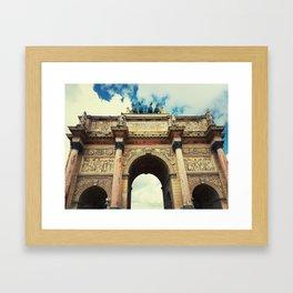 Arc de Triomphe du Carrousel Framed Art Print