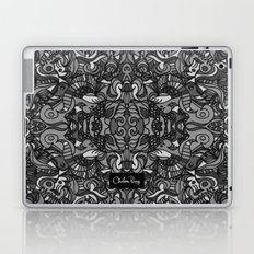 Top Hat Black and White Laptop & iPad Skin