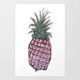 Pineapple Crush Art Print