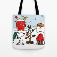snoopy Tote Bags featuring Snoopy 01 by tanduksapi