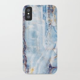 Ice Blue Marble Texture iPhone Case