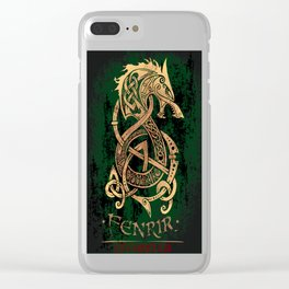 Fenrir: The Monster Wolf of Norse Mythology Clear iPhone Case