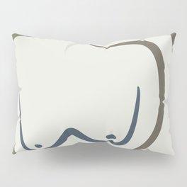Leaning nude scandinavian line art Pillow Sham