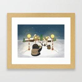 Santa's Workshop, (The Unexpected Adventures: Christmas Edition) Framed Art Print