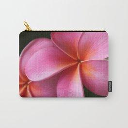 Pua Lei Aloha Cherished Blossom Pink Tropical Plumeria Hina Ma Lai Lena O Hawaii Carry-All Pouch