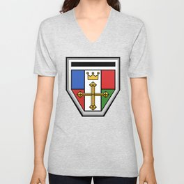 Voltron Chest Shield  Unisex V-Neck