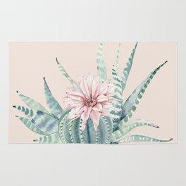 Aloe Cactus Rose Pink Rug