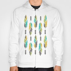 Painted Feathers-Cream Hoody