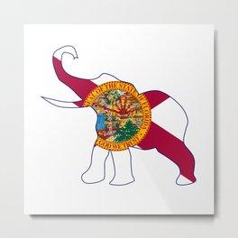 Florida Republican Elephant Flag Metal Print