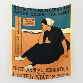 1895 Boston, Holland water color art expo Wall Tapestry