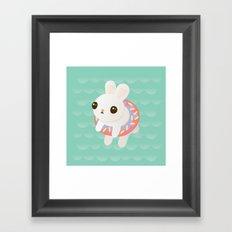 Doughnut Bun Framed Art Print