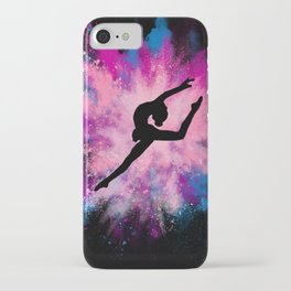 gymnast dancer colour splash iPhone Case