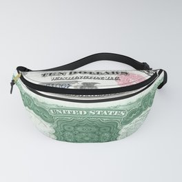 1880 Series U.S. Federal Reserve Ten Dollar Indian Princess Pocahontas being present to the royal E Fanny Pack