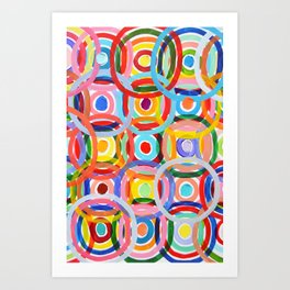 Ornamental Polka Daubs Art Print