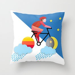 Free from morning till night Throw Pillow