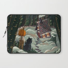 the witch in the gingerbreadhouse Laptop Sleeve