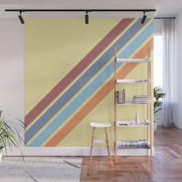 Classic Diagonal Stripes Bugius Wall Mural