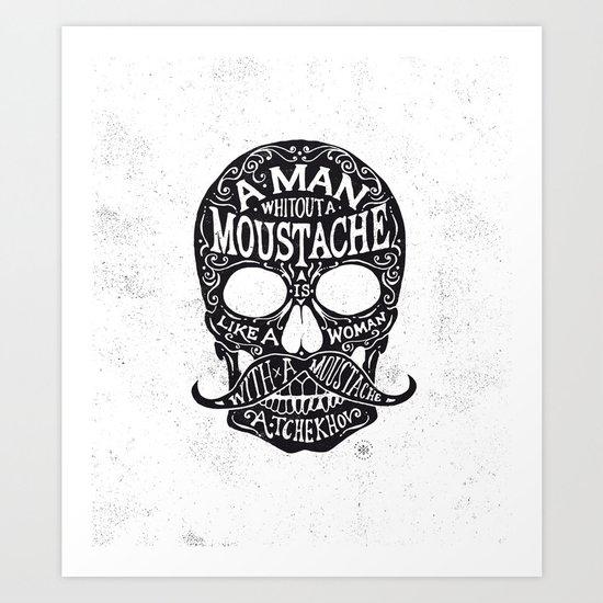 Skull Tchekhov Art Print