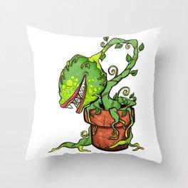 Killer Plant Venus Fly Trap Throw Pillow