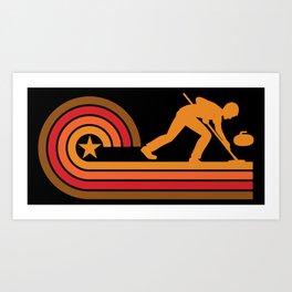 Retro Style Curler Vintage Curling Art Print