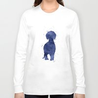 dachshund Long Sleeve T-shirts featuring Dachshund by Carma Zoe