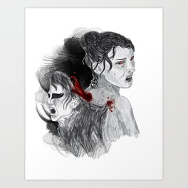 Black Swan II Art Print