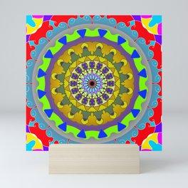 Sun mandala Mini Art Print
