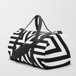 2 Color Triangle Target Hexagon Duffle Bag