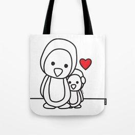 Penguin Sweetness Tote Bag