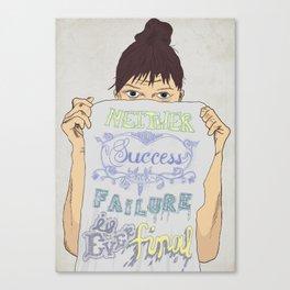 Positive about Ambiguity Canvas Print